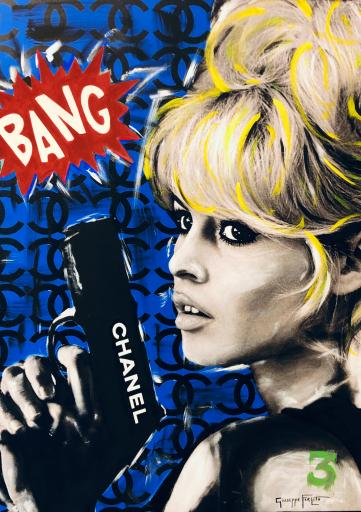 BANG - BRIGITT BARDOT - blue background
